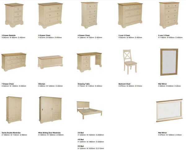 Harmony Painted Bedroom Options - Flintshire