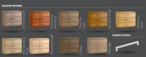 Modena bedroom furniture colours