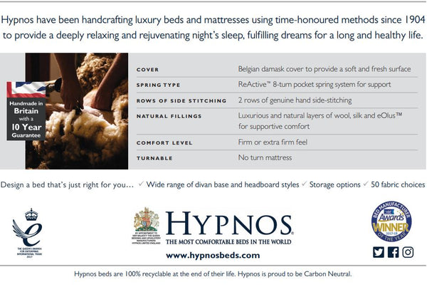 Hypnos Orthocare Backcare 8 - Hypnos Beds