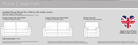Plaza Fully Reclining Sofa / Suite