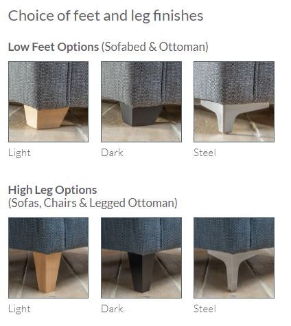 Poppy Compact Suite - Leg Options