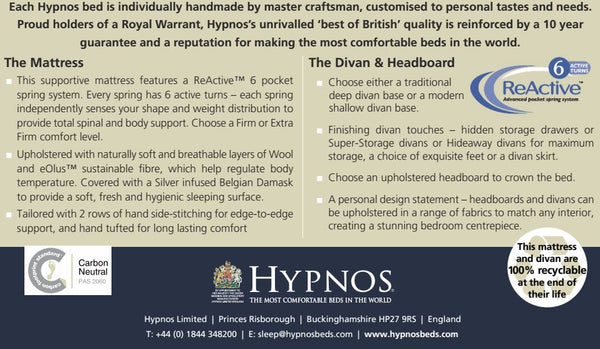 Hypnos beds and mattresses in Deeside, Flintshire