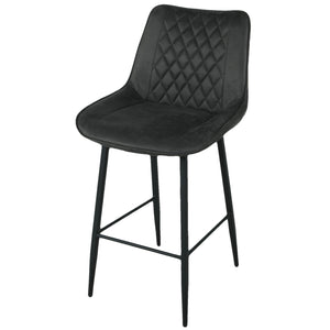 Charcoal Grey fabric stool