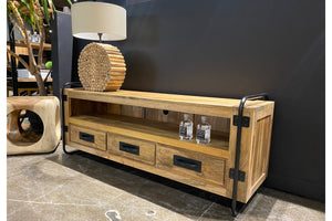 Mango wood 60'' TV unit