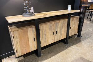 Sideboard Made with Mango Wood With Metal Base