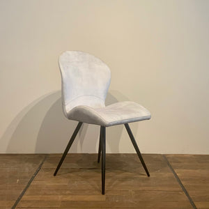 MILANO - Ice Grey Velvet Chair