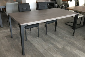 KANPUR SILVER 70'- Straight edge Grey Acacia Dining Table