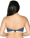 Curvy Kate Sailor Girl Navy Stripe Bandeau Bikini Top