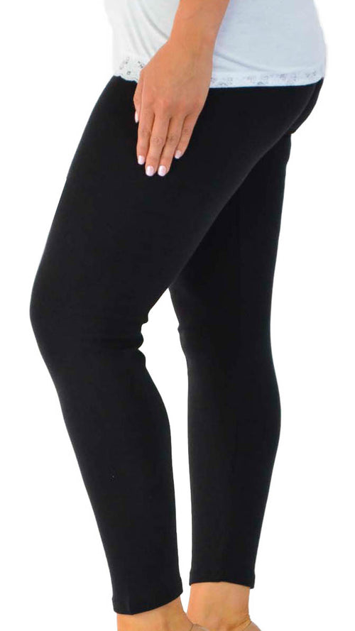 Maliah Plain Full Length Leggings Black