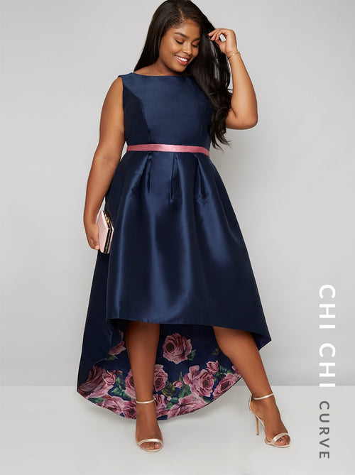 Chi Chi Curve Daniella Dress Navy