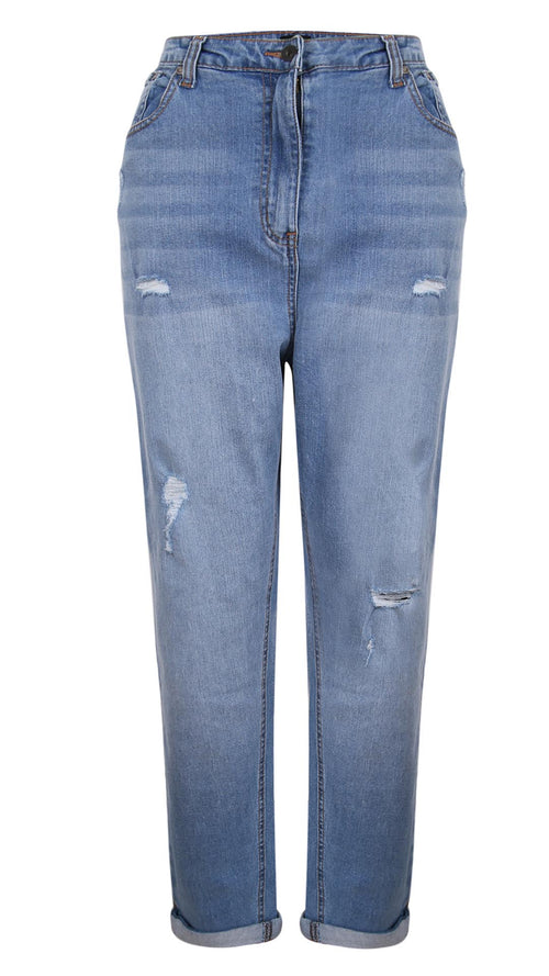 CurveWow Mom Jeans - Light Wash