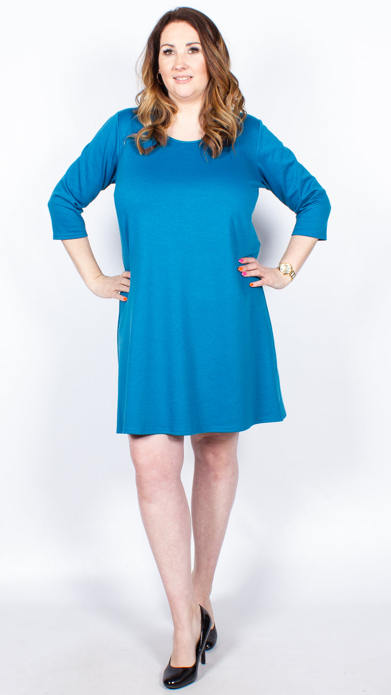 CurveWow Teal Shift Dress