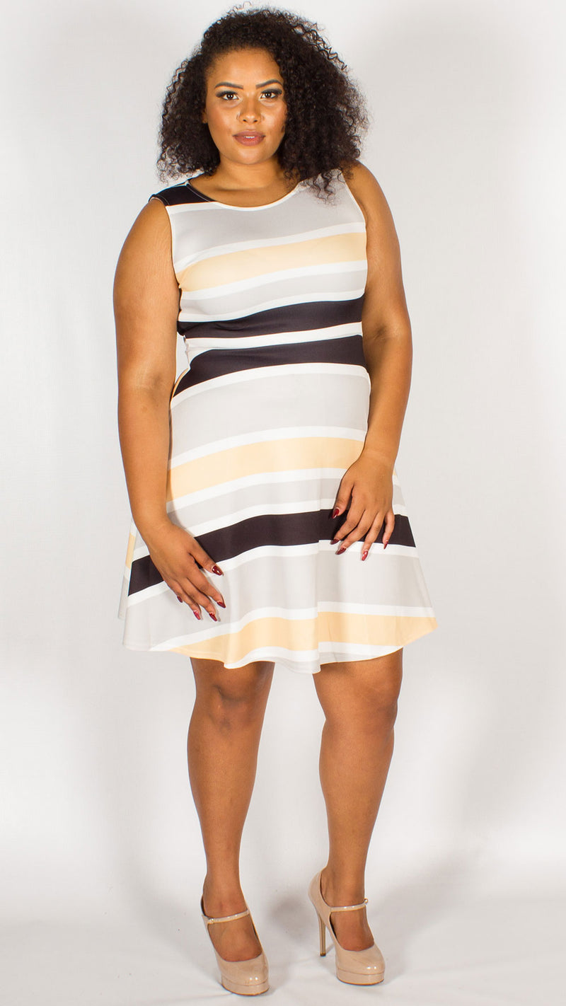 Lille Striped Skater Dress