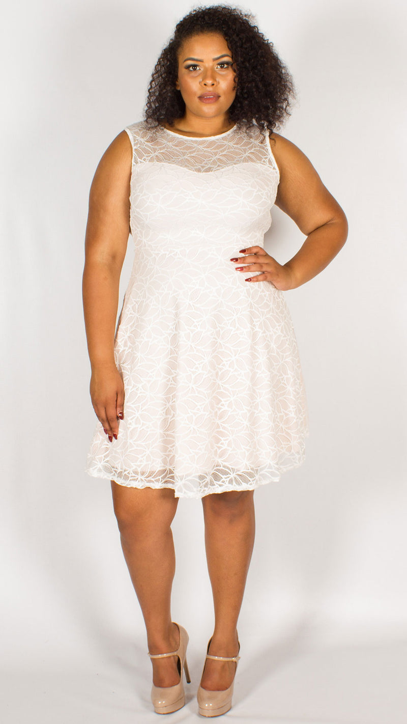 Royalty Nude Skater Dress