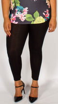 Black Viscose Leggings
