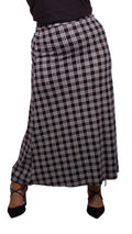 Curvewow Maxi Skirt Black & White Check