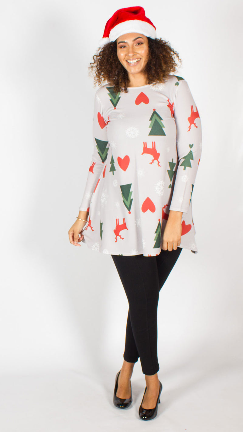 Christmas Reindeer Tree Swing Top
