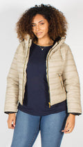 Palmetto Stone Quilted Padded Puffer Bubble Jacket
