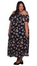 Savanna Off-The-Shoulder Maxi Dress Black