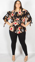 Anmore Rust Floral Bardot Top