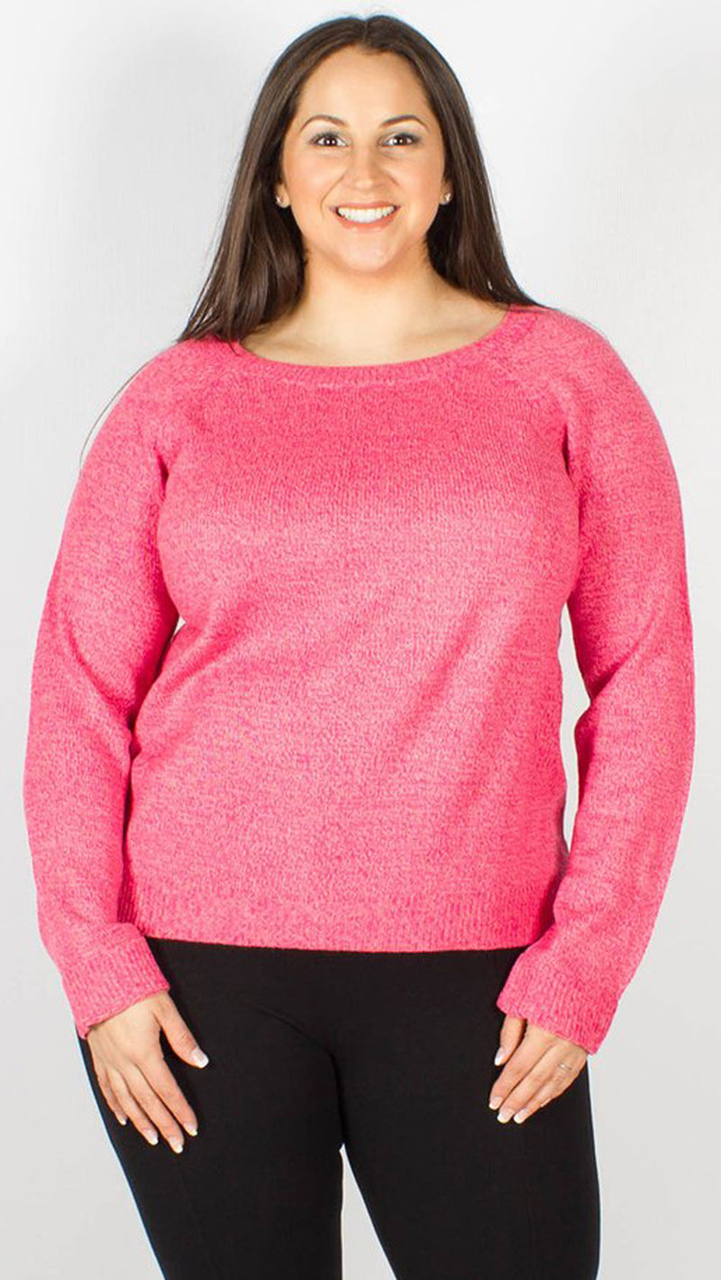 Jade Knitted Pink Jumper