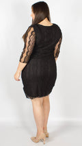 Napoli Chiffon Sleeve Sweetheart Dress