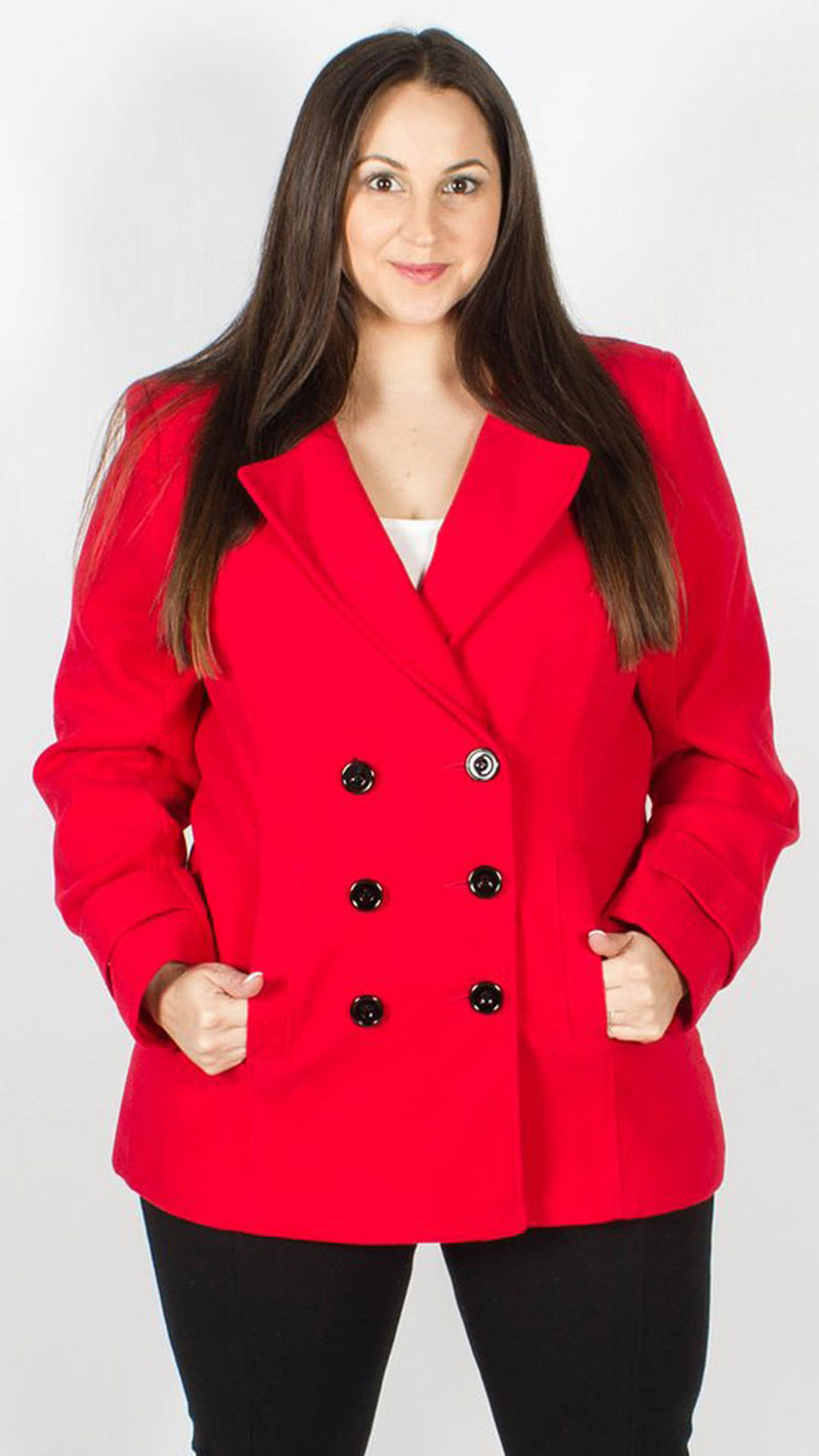 Medina Red Buttoned Coat