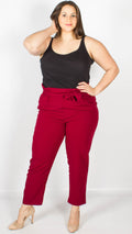 Monrovia Wine Cigarette Trousers