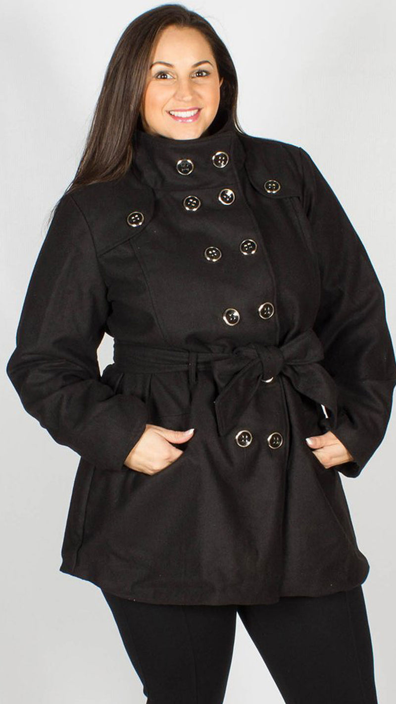 New York Waist Tie Wool Coat