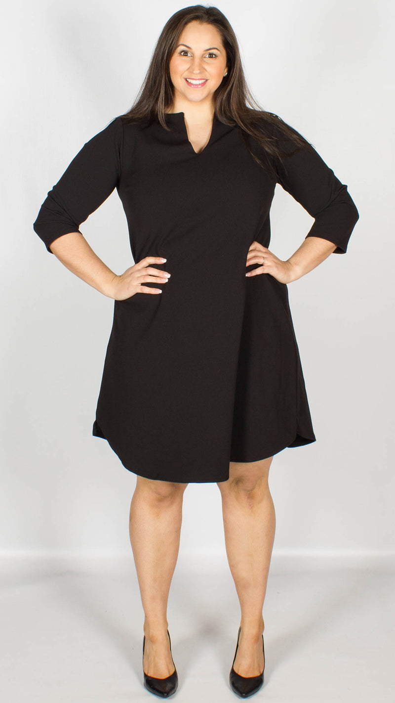 Taupo A-Line Shift Dress with Keyhole Detailing