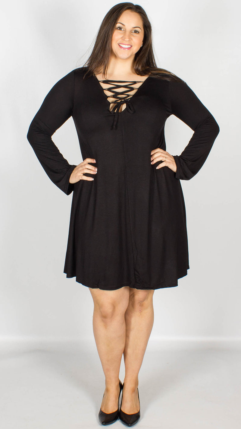 Easton Lace up Swing Dress