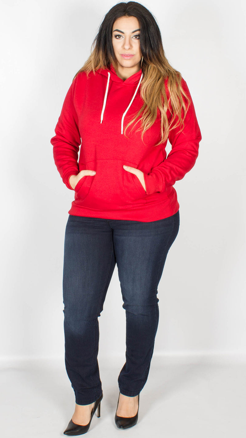 Amelia Pullover Hoody Red