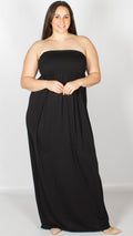 Faye Strapless Elasticated Maxi Dress
