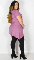 Eva Butterfly Lilac Top
