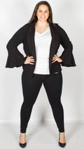 Alegre Black Bell Sleeve Jacket