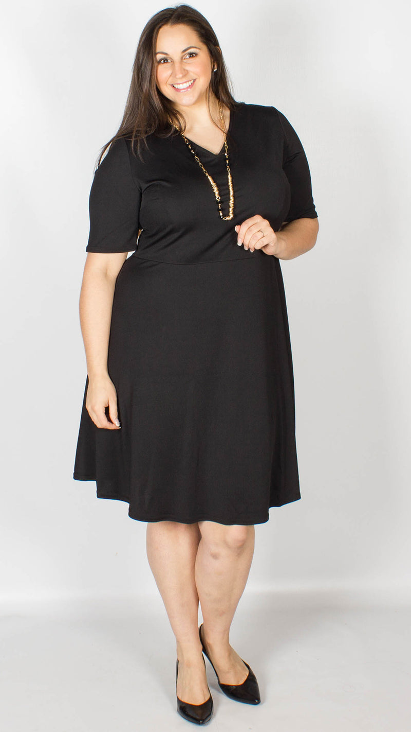 Elisha Black Skater Necklace Dress