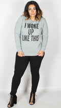 Elsie Woke Up Like This Printed Grey Jumper