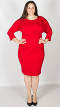 Luna Red Midi Dress