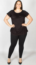 Jessica Black Gypsy Jersey Top