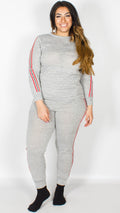 Sophie Grey Side Striped Lounge Suit