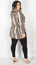 Pippa Dip Hem Striped Shirt