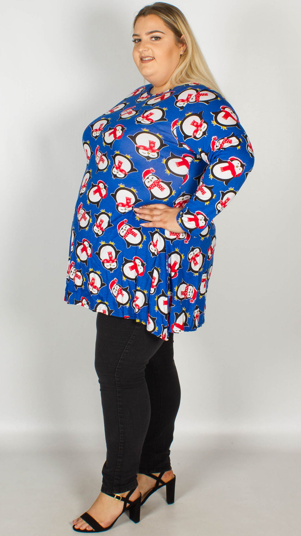 512d4ab849a Penguin Print Christmas Swing Tunic – Curvewow