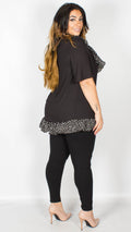 Abbi Black Frill Detail Top