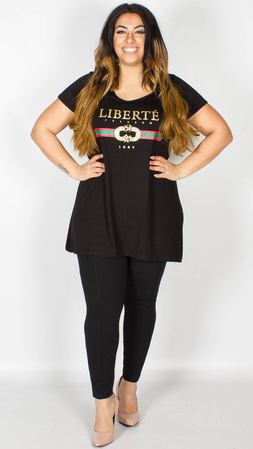 Georgia Liberte Slogan T-Shirt