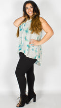 Hattie Butterfly Print Sleeveless Shirt