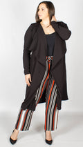 Jane Longline Duster Jacket Black