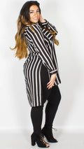 Nicola Black Contrast Stripe Pocket Shirt