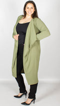 Jane Longline Duster Jacket Khaki