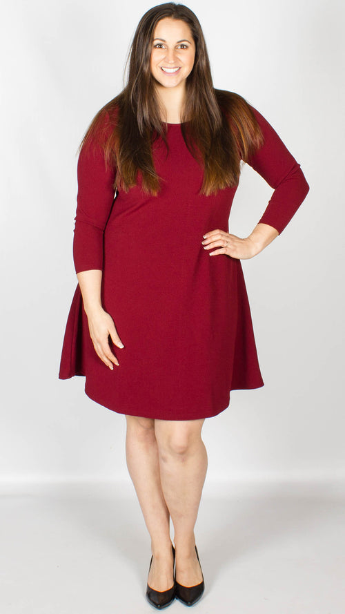 Nicky Swing Dress Wine