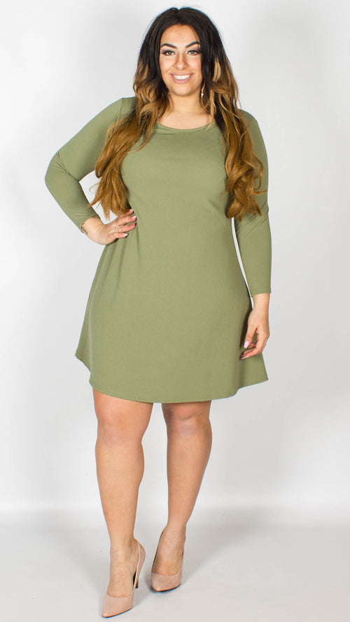 Nicky Swing Dress Khaki